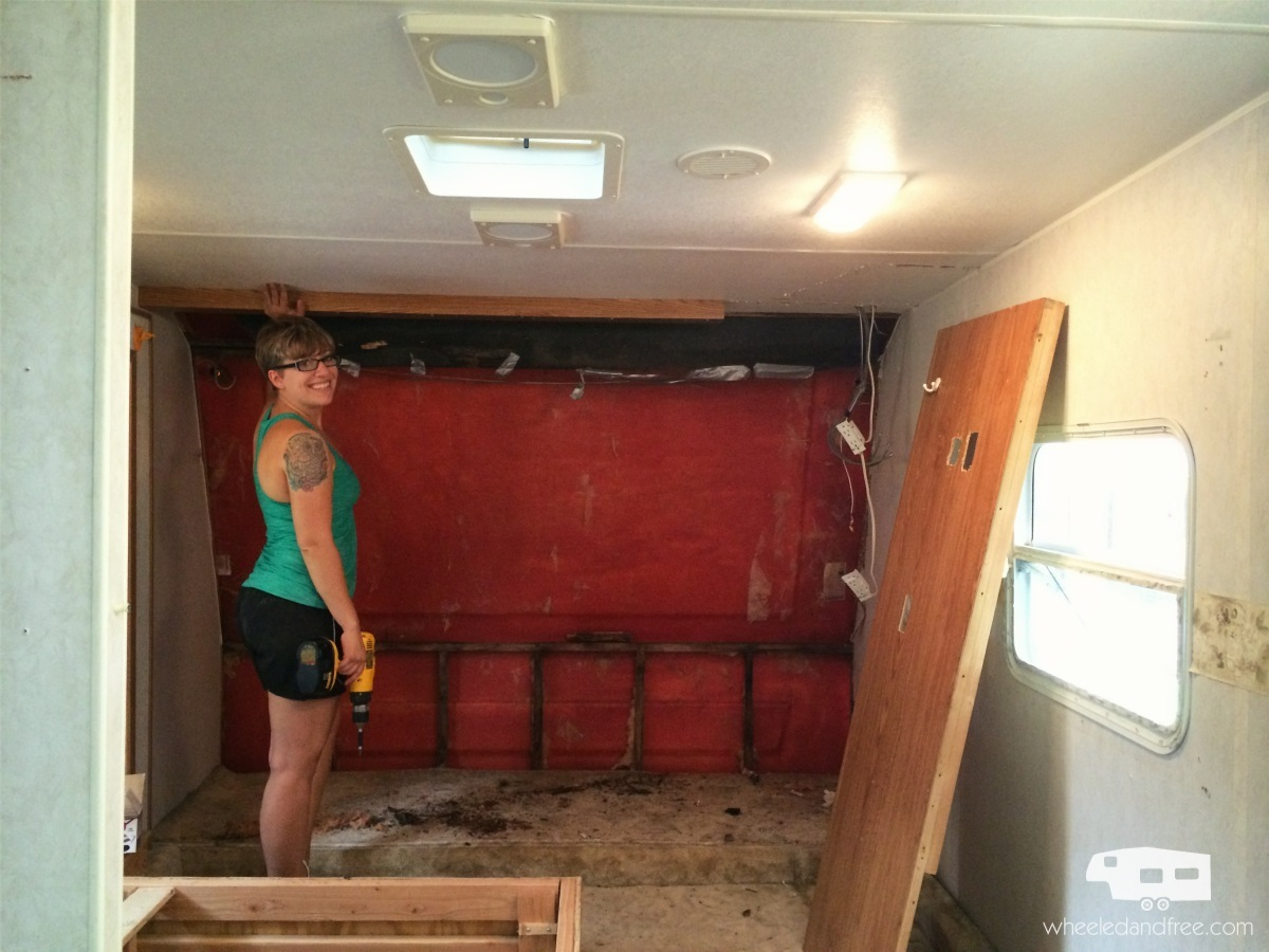 Wheeled and free rv renovation for Rv with 2 master bedrooms